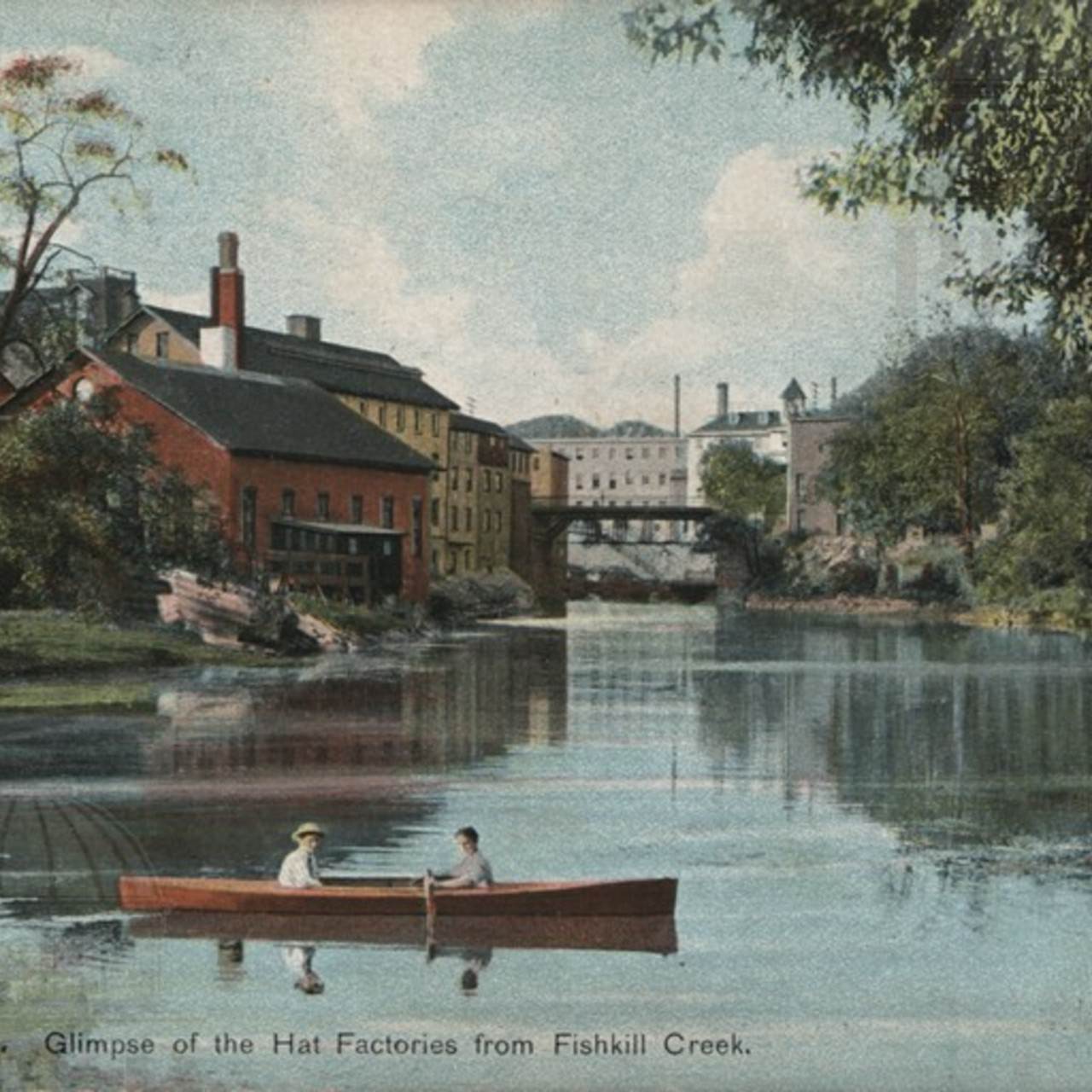 Glimpse of the Hat Factories from Fishkill Creek