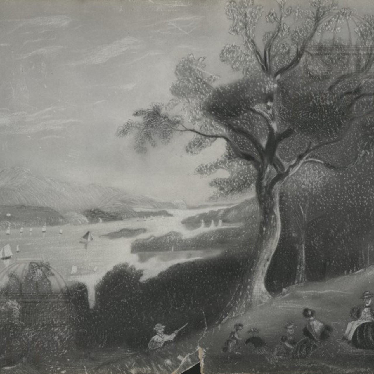 View of Hudson River from Walter Langdon's Place in 1855.