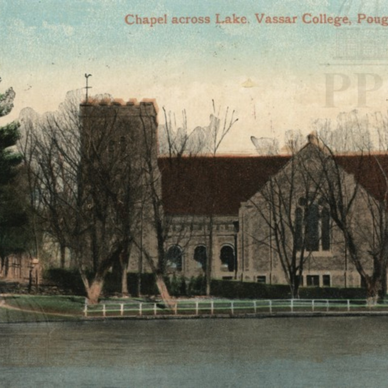 Chapel Across Lake, Vassar College