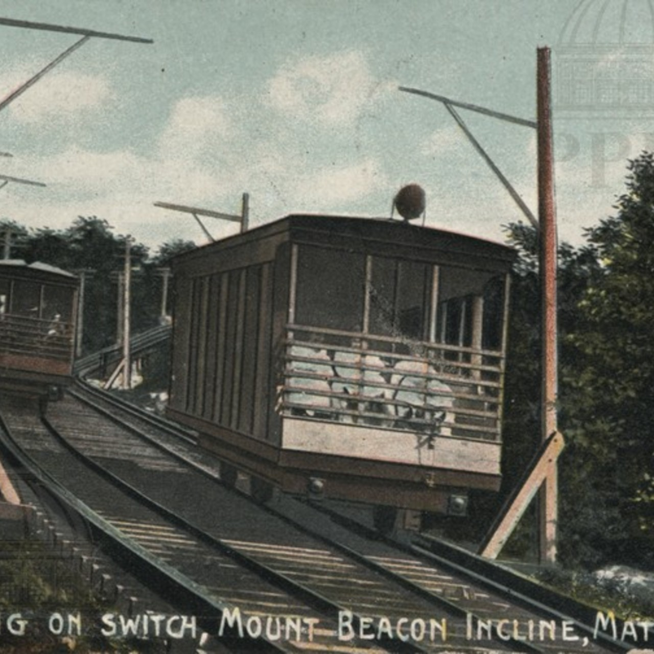 Cars Passing on Switch, Mount Beacon Incline
