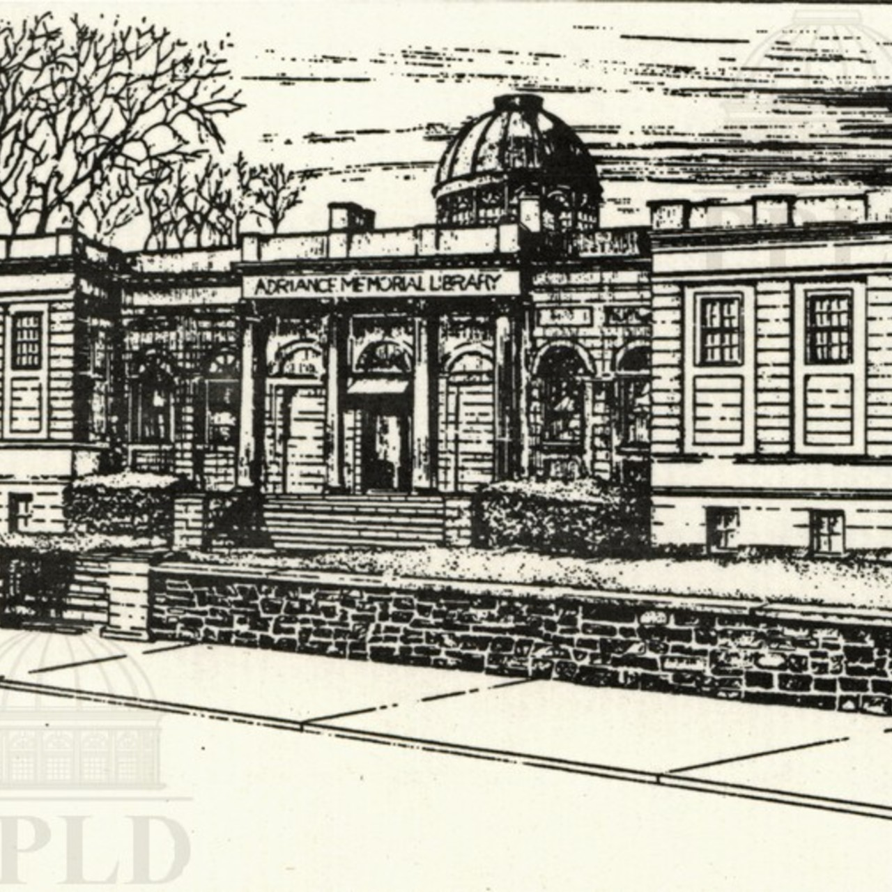Illustration of Adriance Memorial Library