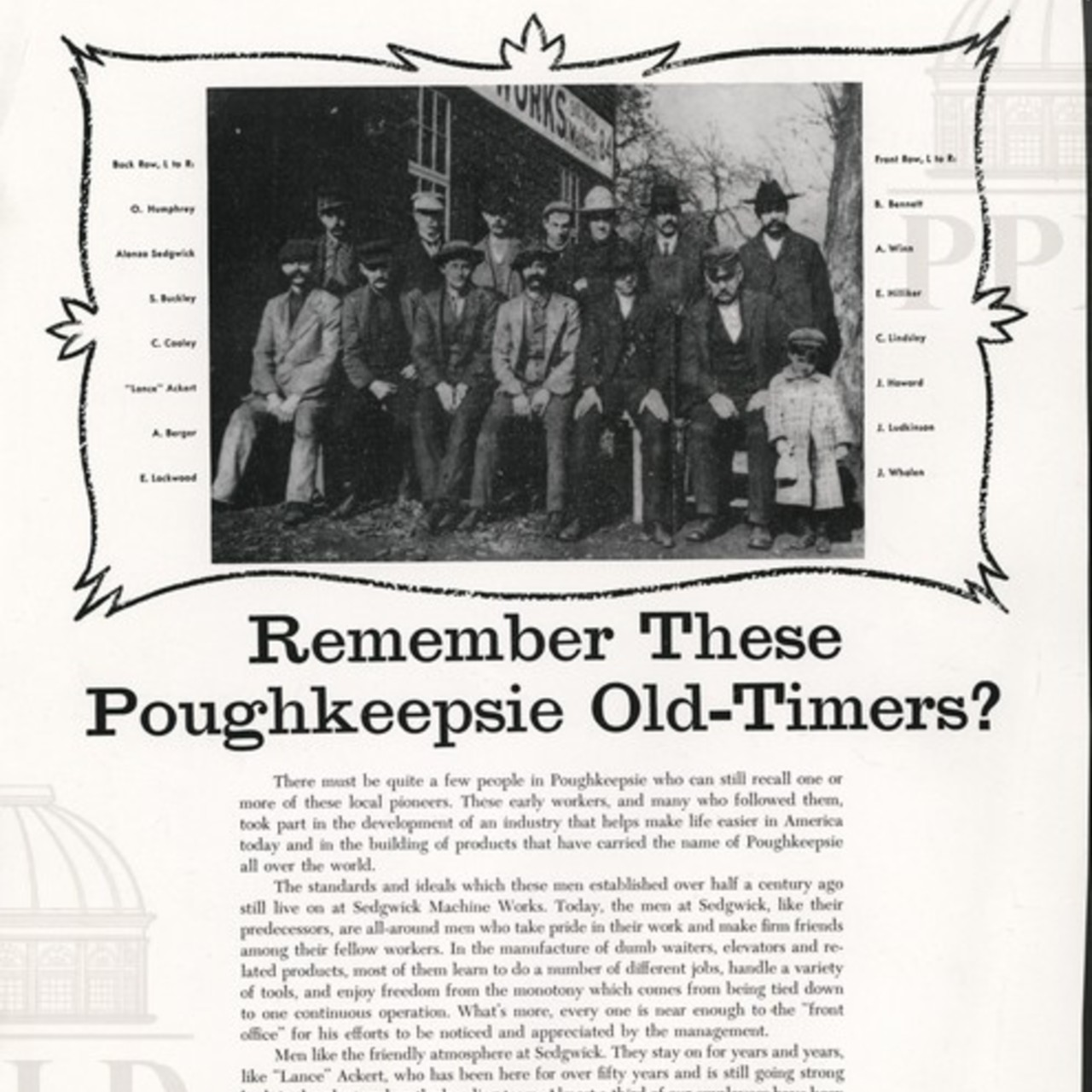 """Remember These Poughkeepsie Old-Timers?"""