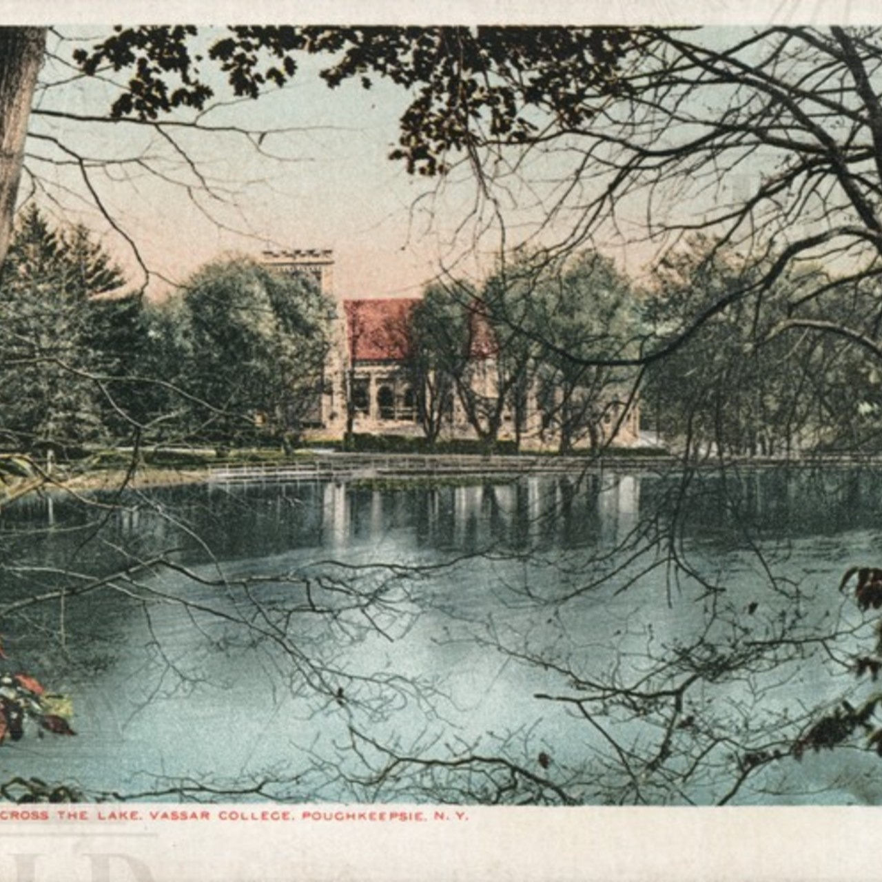Chapel from Across the Lake, Vassar College