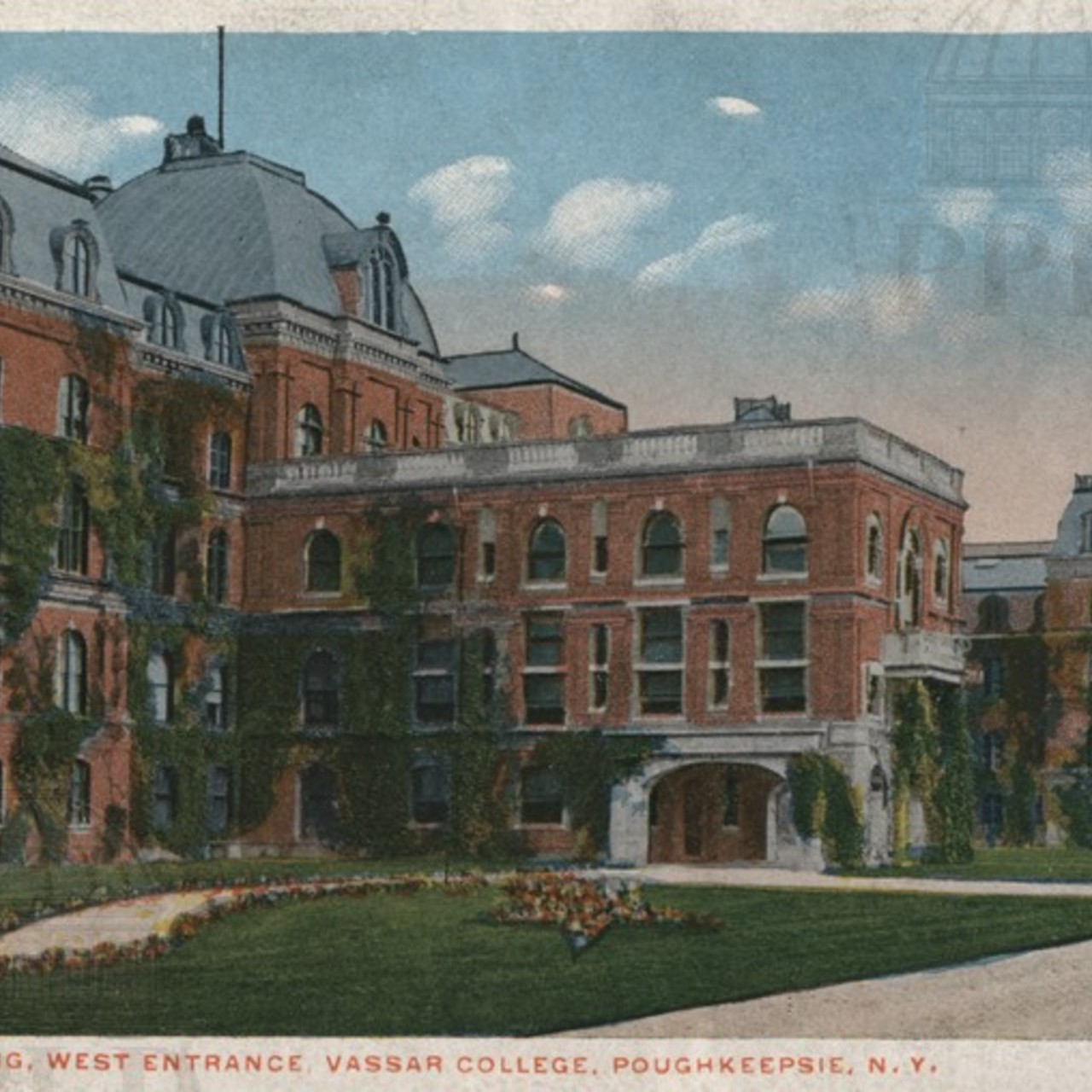 Main Building, West Entrance, Vassar College